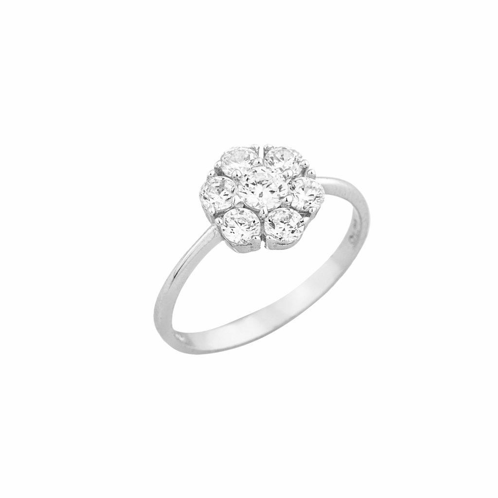 Δαχτυλίδι με λευκές πέτρες